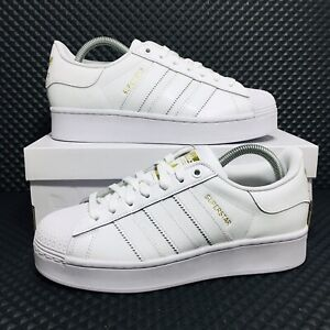 Adidas Superstar Bold Women's White Sneaker Casual Athletic Shoe