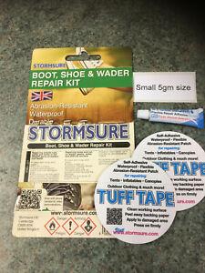STORMSURE 5gm Boot Wader Shoe Wellington Trainer Repair Adhesive Glue Kit