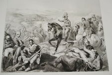 SUISSE NAPOLEON BATAILLE DE ZURICH GRAVURE 1838 VERSAILLES R1024 IN FOLIO