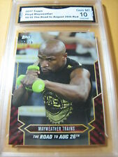 FLOYD MAYWEATHER 2017 TOPPS NOW ROAD TO AUG. 26 # 10/10 RED GRADED 10  L@@@K