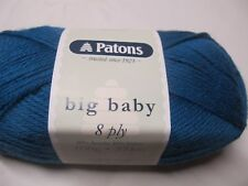 PATONS BIG BABY 8 PLY YARN,2 BALLS KINGFISHER NO 2588,100GR,NEW COLOUR
