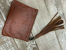 Will Leather Goods Cognac Small Zip Pouch