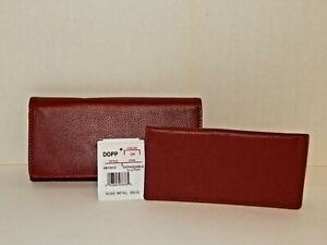 Dopp Series by BUXTON - Red Bi-Fold Clutch Wallet - Leather - Checkbook - $55