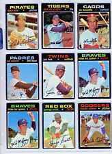 1971 MLB Topps Baseball uPICK you pick (1)  #2 TO #59  Rookies Included $2 to $4