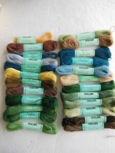 Lot Of 24 Skeins Penelope Crewel Wool. Mostly Full Skeims