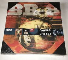 "Star Wars Wall Art 12"" x 12"" BB8 2 Pack Set Canvas Disney New Sealed"