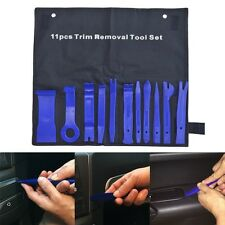 11pcs Nylon Autos Panel Dash Audio Stereo GPS Molding Removal Install Tools Blue