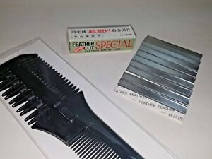 Razor Comb and 1 Pack of Replacement Blades (10 in pack)