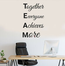 Vinyl Wall Decal Teamwork Motivation Words Office Stickers 35 in x 22 in gz233