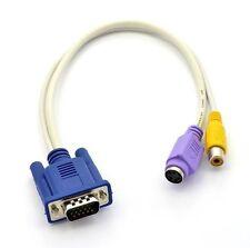 VGA SVGA to TV S-Video Female 1 x RCA AV OUT Female Connector Converter Adapter