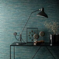 Saffiano Deep Teal Grasscloth Wallpaper Texture Paste the Wall Vinyl 33988-4