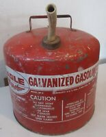 Vintage Red Gas Gasoline Can Eagle 5 Gallon Galvanized Metal Tank Model SP-5