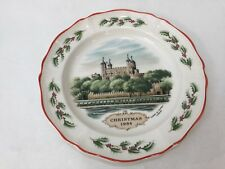 "Wedgwood 'Tower of London' Christmas 1984 Queen's Ware Collector Plate, 8"" Dia"