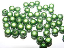 50 PERLES MIRAGE /MIRACLE /MAGIQUE 8mm VERT      A139