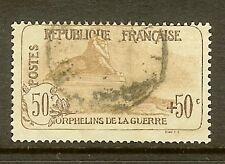 """FRANCE STAMP TIMBRE N° 153 """" ORPHELINS DE LA GUERRE 50c+50c LION """" OBLITERE TB"""