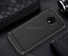 For Motorola Moto G6 Carbon Fibre Gel Case Cover Brushed Shockproof Hybrid