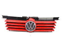original VW Bora Kühlergrill Chrom mit Emblem rot Frontgrill Grill KFZ #2
