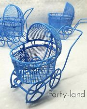 12 Bluee  Metal Carriages Baby Shower Favors Pink Party Decorations Girl