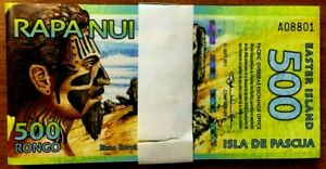 EASTER ISLAND 500 RONGO x 50 Pcs Lot NEW 2011 DOLPHIN UNC POLYMER NOTE BUNDLE