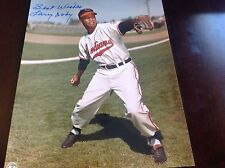 LARRY DOBY SIGNED 8x10 PHOTO 1998 HALL OF FAME CLEVELAND INDIAN INSC BEST WISHES