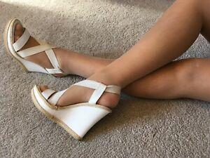 lk bennett White Leather Wedge Size 6 EUR 39