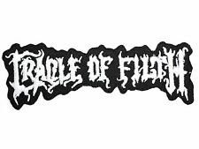 CRADLE OF FILTH Heavy Metal Iron On Sew On Embroidered Jacket Patch 4.2""