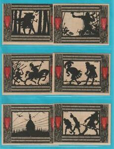 Notgeld 4930 Detmold 10 Stück Varusschlacht aus 1920