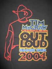 "2004 Tim McGraw & The Dancehall Doctos ""Out Loud"" Concert Tour (Xl) T-Shirt"