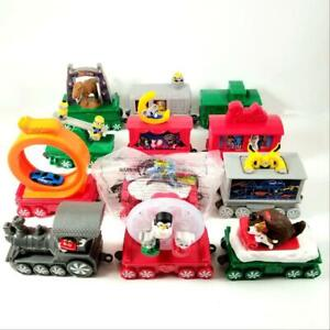 12 McDonald's Happy Meal Christmas HOLIDAY EXPRESS TRAIN Toys COMPLETE SET 2017