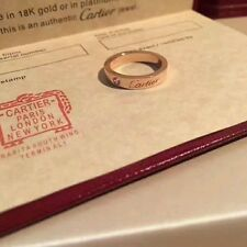 Authentic Cartier Diamond 18K Rose Gold Love Ring US Size 6