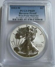 2013-W PCGS PR69 Reverse Proof AMERICAN SILVER EAGLE ~from West Point Mint Set~