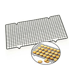 Stainless Steel Wire Grid Cooling Rack BBQ Cake Safe Oven Kitchen Baking Tools.