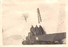 Inverno soldati con camion in Polonia Zamosc