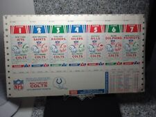 1973 Baltimore Colts UNITAS~UNUSED FOOTBALL GAME TICKETS  BALTIMORE COLTS