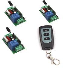 110 V 220 V 1CH Interruptor remoto inalámbrico de canal transmisor receptor de encendido/apagado de +3