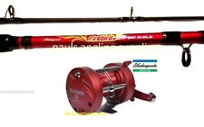 Shakespeare Firebird Boat Fishing Rod & Omni Multiplier Reel Sea Fishing Line LH