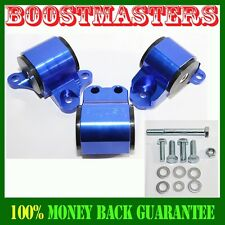 Engine Mount Kit fit 96-00 Honda Civic ONLY FITS THREE HOLE POST MOUNTS BLUE