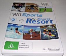 Wii Sports + Resort Nintendo Wii PAL *No Manual* Wii U Compatible