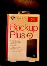 Seagate Backup Plus 5TB, External, 5400 RPM, 2.5in. (STHP5000400) Hard Drive NEW