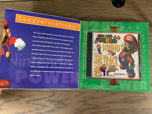 N64 Nintendo Power Subscription Pak - SUPER MARIO 64 SOUNDTRACK - Promo