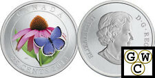 2013Purple Coneflower&Eastern Tailed Blue Colored 25-Cent Coin(Oversize) (13190)
