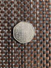 2013 Benjamin Britten 100 Year Anniversary 50p Used Coin.