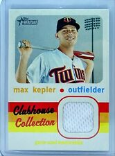 Max Kepler 2020 Topps Heritage CCR-MK Clubhouse Collection Relic Minnesota Twins