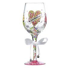 Lolita GLS11-5599H Just Married Wedding Wine Glass