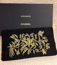 NEW RARE CHANEL BEAUTE Beautiful Embroidery Makeup Cosmetic Bag Pouch New in Box