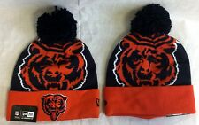 CHICAGO BEARS NEW ERA BIG LOGO KNIT BEANIE HAT W/ POM  FREE SHIP CLOSEOUT
