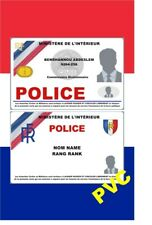 France ID COLLECTOR CARDS <<Français..POLICE>>