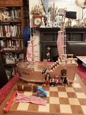 Holy Moly Delta Sport Wooden Pirate Ship & Some Accessories 48 x 47 x 18cm