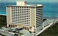 Marco Polo Resort Motel Miami Beach Florida Fl aerial view old cars Postcard
