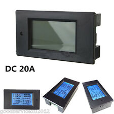 DC6.5~100V 20A Car Digital LCD Combo Panel Gauge Voltage Current Meter KWh Watt